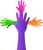 Mãos do símbolo da cristandade Fotografia de Stock