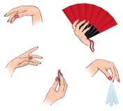 Mãos do `s das mulheres ilustração stock