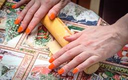 Mãos do `s das mulheres Fotos de Stock Royalty Free