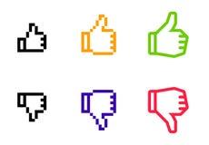 Mãos do Web site ajustadas Imagens de Stock