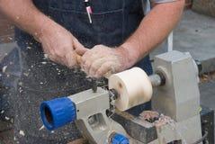 Mãos do Woodworker Imagem de Stock
