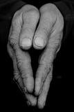 Mãos dobradas II Fotos de Stock Royalty Free