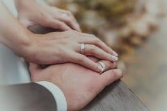 Mãos dos amantes Imagens de Stock Royalty Free