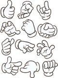 Mãos dos desenhos animados Imagens de Stock Royalty Free