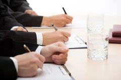 Mãos dos empresários Imagem de Stock Royalty Free