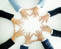 Mãos dos empresários Imagens de Stock