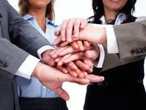Mãos dos executivos da equipe Imagens de Stock Royalty Free