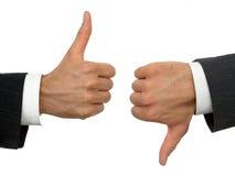 Mãos dos homens de negócios Imagem de Stock