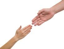 Mãos dos homens e das mulheres Foto de Stock