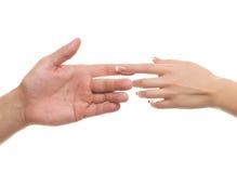 Mãos dos homens e das mulheres imagem de stock royalty free