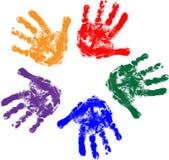 Mãos dos miúdos Fotografia de Stock Royalty Free