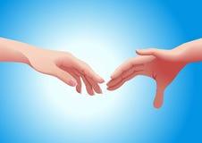 Mãos dos pares Foto de Stock Royalty Free