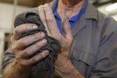 Mãos dos trabalhadores Fotografia de Stock Royalty Free