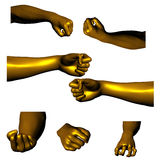 Mãos douradas 02 Imagens de Stock