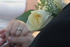 Mãos e anéis Imagens de Stock Royalty Free