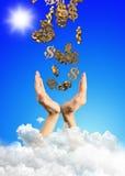 Mãos e dólares Foto de Stock Royalty Free