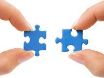 Mãos e enigma Imagem de Stock