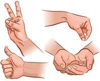 Mãos e gestos ilustração stock