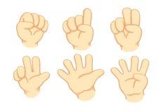 Mãos e números Fotos de Stock Royalty Free