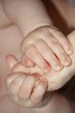 Mãos e pé do bebê Imagens de Stock Royalty Free
