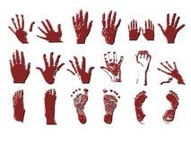 Mãos e pés de Grunge Fotografia de Stock Royalty Free