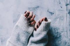 Mãos e pregos Fotografia de Stock Royalty Free