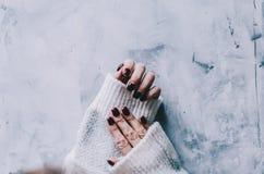 Mãos e pregos Imagem de Stock
