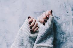 Mãos e pregos Fotos de Stock