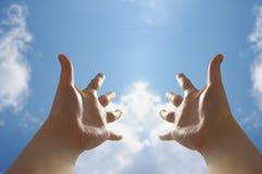 Mãos e sol Fotografia de Stock Royalty Free
