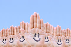 Mãos e sorriso Imagem de Stock
