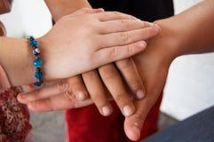 Mãos em equipa Fotografia de Stock