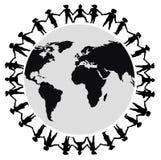 Mãos em torno do mundo 2 Fotografia de Stock Royalty Free