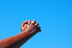 Mãos Entreating Fotografia de Stock Royalty Free