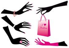 Mãos fêmeas ilustração do vetor