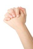 Mãos fechadas na oração Fotos de Stock