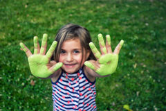 Mãos felizes Foto de Stock
