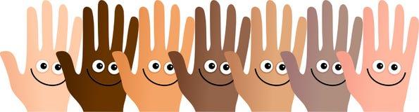 Mãos felizes Fotografia de Stock Royalty Free