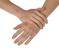 Mãos femininos Imagem de Stock