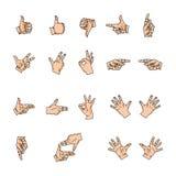Mãos, gostos e dedos Foto de Stock Royalty Free