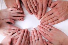 Mãos humanas Foto de Stock Royalty Free