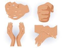 Mãos humanas Fotografia de Stock