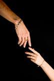 Mãos humanas com jóia Foto de Stock