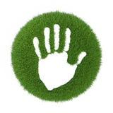 Mãos humanas da cópia na grama verde Fotos de Stock Royalty Free