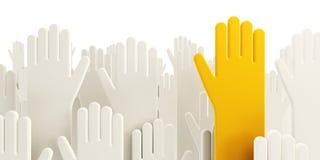 Mãos humanas de votação isoladas Imagem de Stock