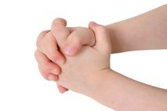 Mãos junto Imagem de Stock
