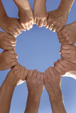 Mãos junto Foto de Stock Royalty Free