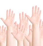 Mãos levantadas Fotos de Stock Royalty Free