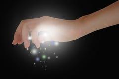 Mãos mágicas fotografia de stock