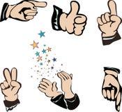 Mãos - movimentos Imagem de Stock
