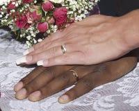 Mãos multiculturais Imagem de Stock